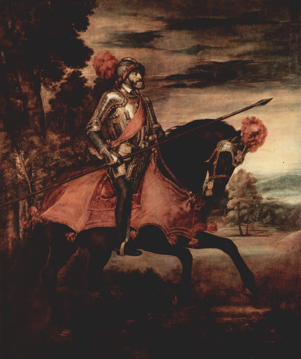 Тициан Вечеллио. Конный портрет императора Карла V