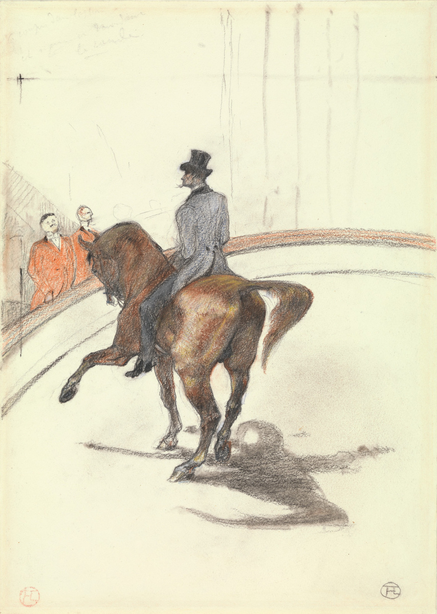 Henri de Toulouse-Lautrec. In the circus. Spanish walk