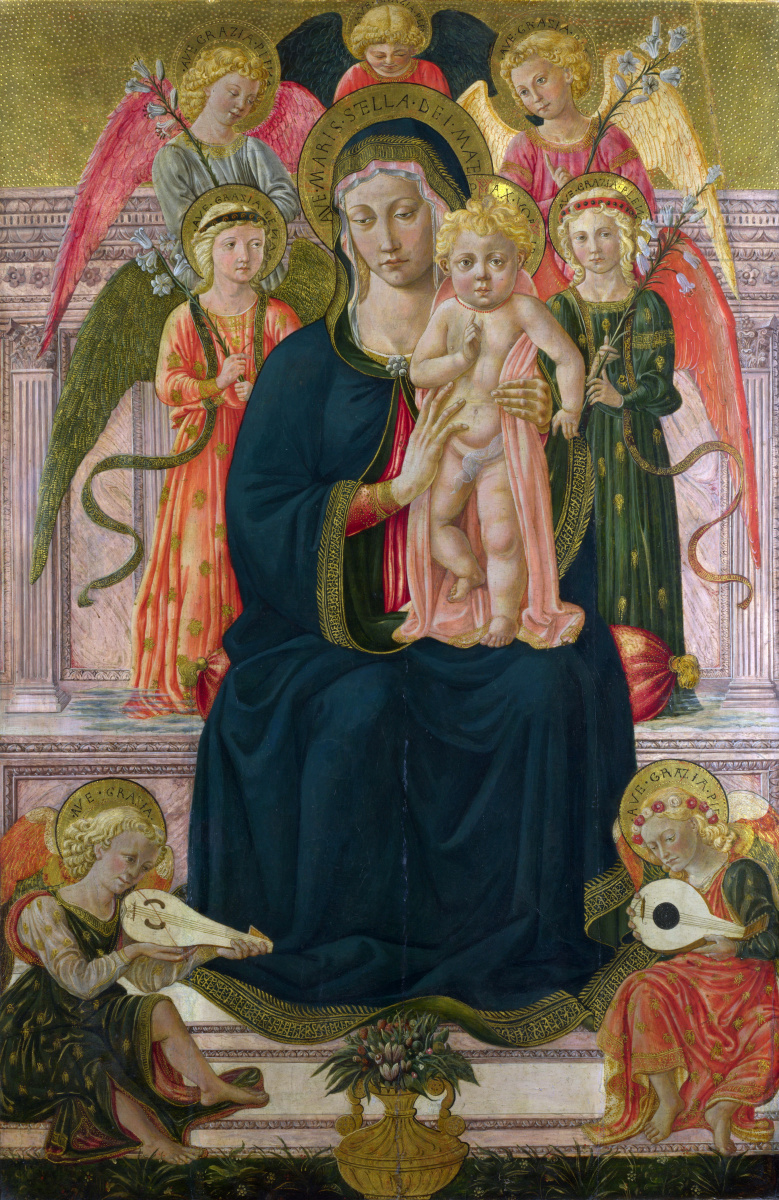 Беноццо Гоццоли После. Дева с младенцем на троне с ангелами