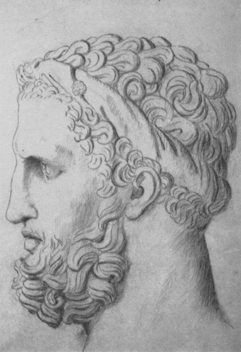 Жорж Сёра. Античная голова