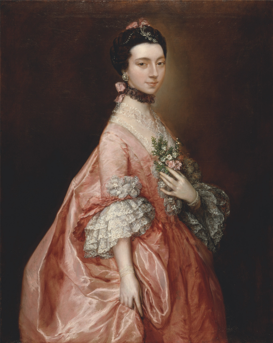 Thomas Gainsborough. Portrait of Mary little, later lady Carr