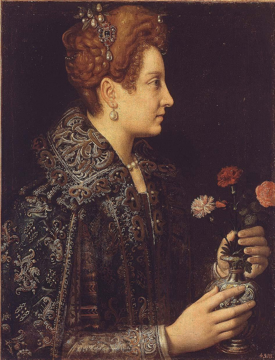 Sofonisba Angisola. Portrait of a young woman in profile