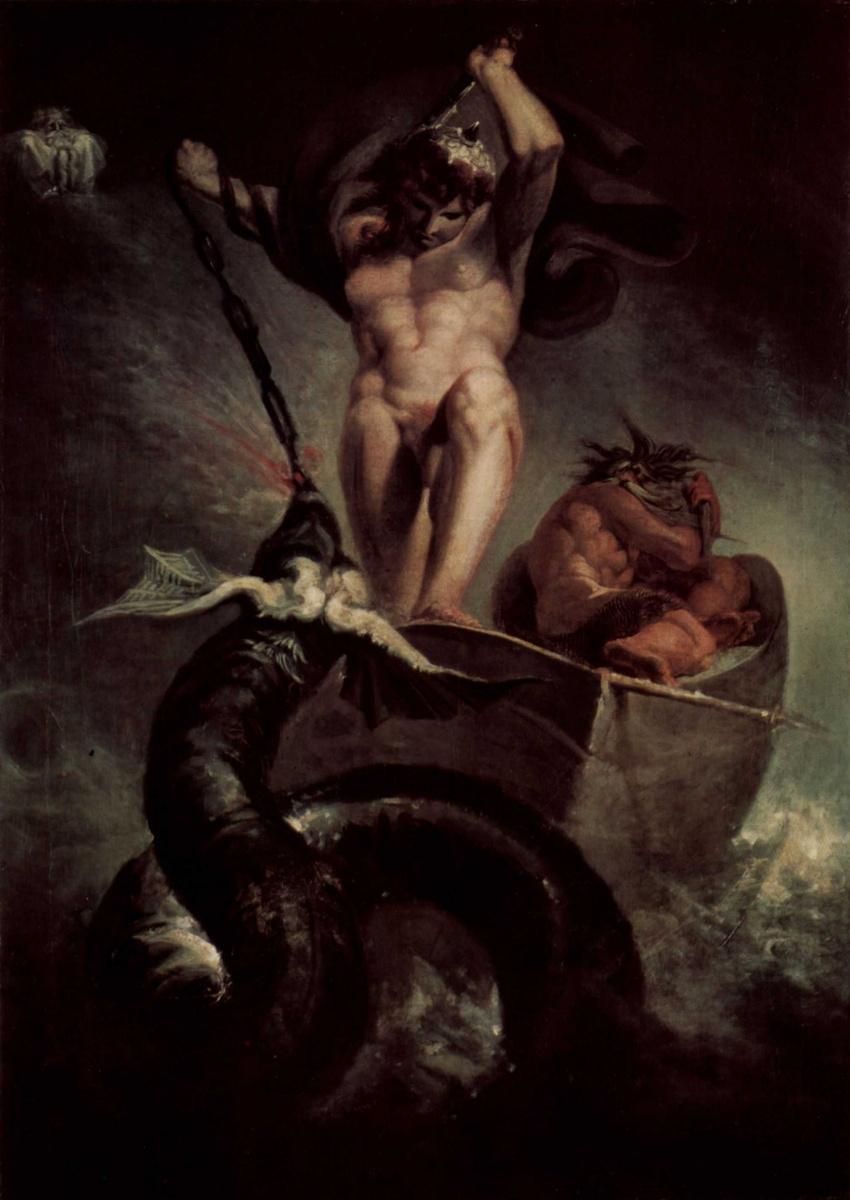 Иоганн Генрих Фюссли. Битва Тора со змеем Мидгарда