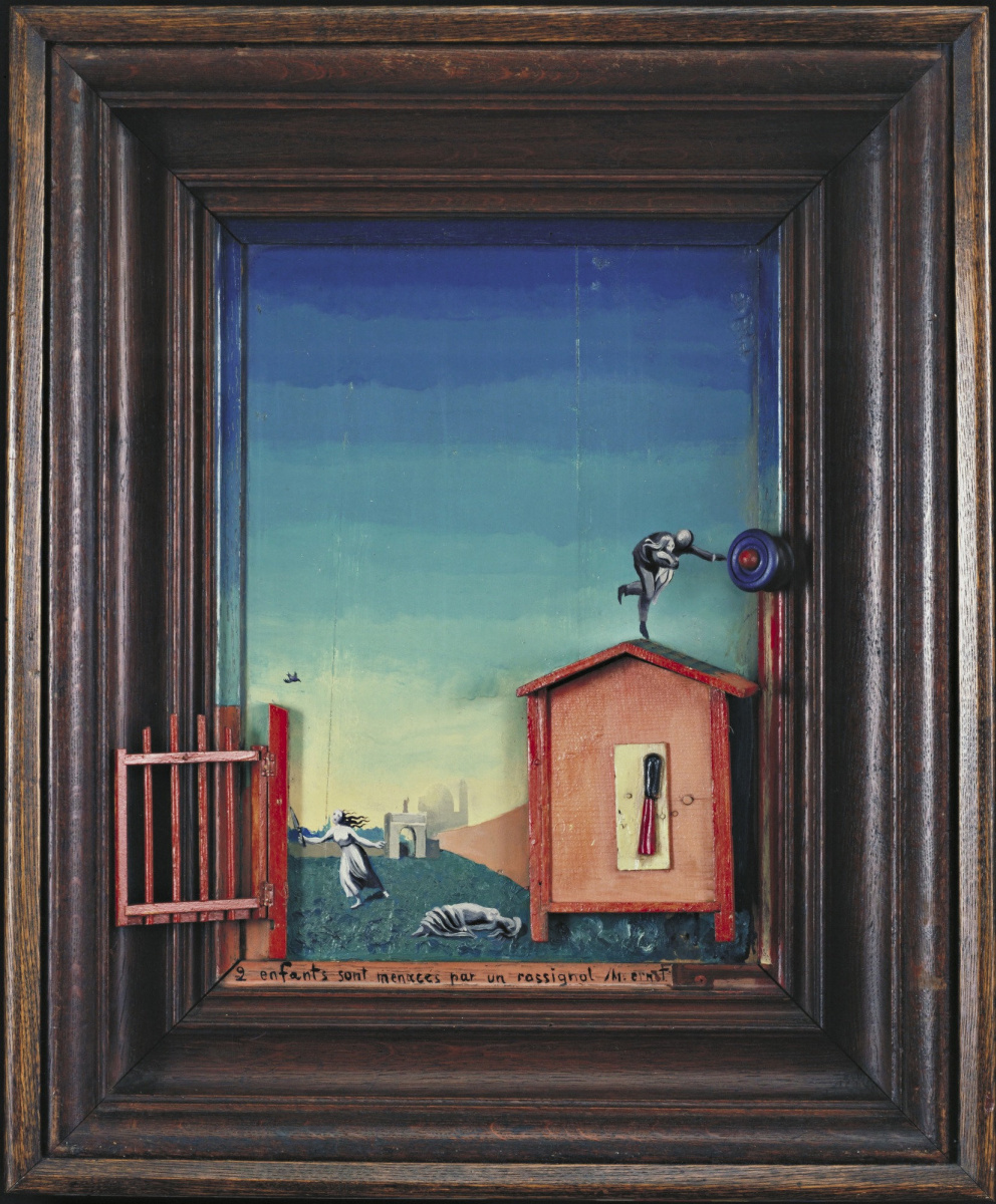 Max Ernst. Two Children Threatened by a Nightingale