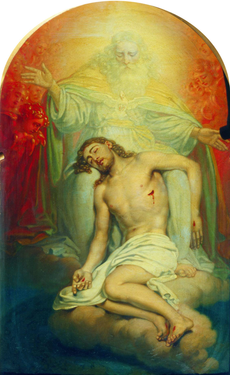 Владимир Лукич Боровиковский. Бог-отец, созерцающий мертвого Христа. Эскиз