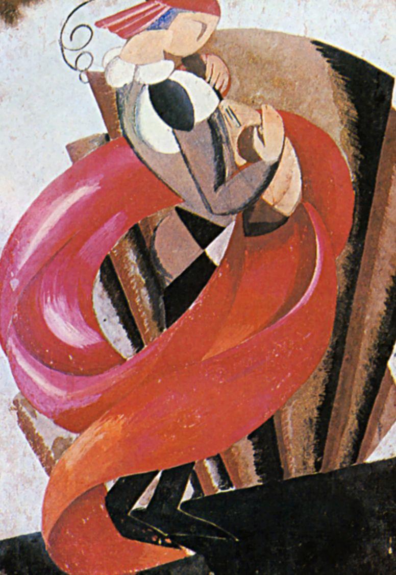 """Александра Александровна Экстер. Второй музыкант. Эскиз костюма к спектаклю """"Ромео и Джульетта"""" У. Шекспира. Московский Камерный театр"""