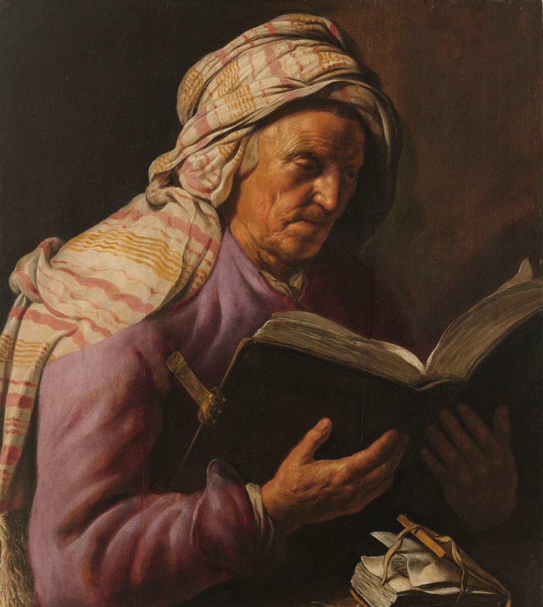 Ян Ливенс. Пожилая женщина за чтением