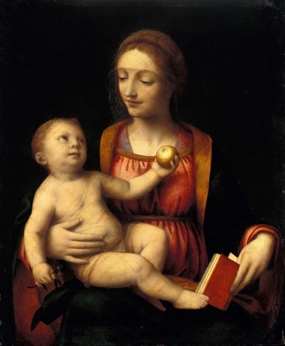 Bernardino Luini. The Madonna and child holding an Apple
