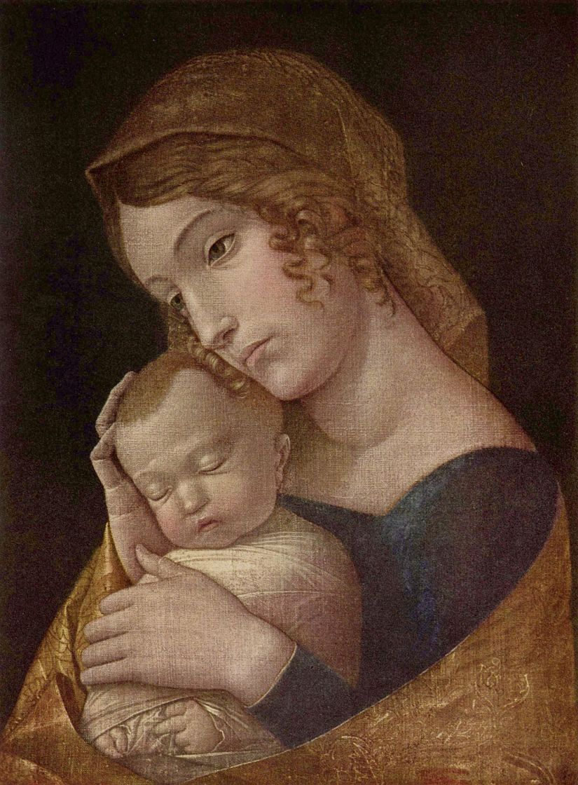 Андреа Мантенья. Мария со спящим младенцем