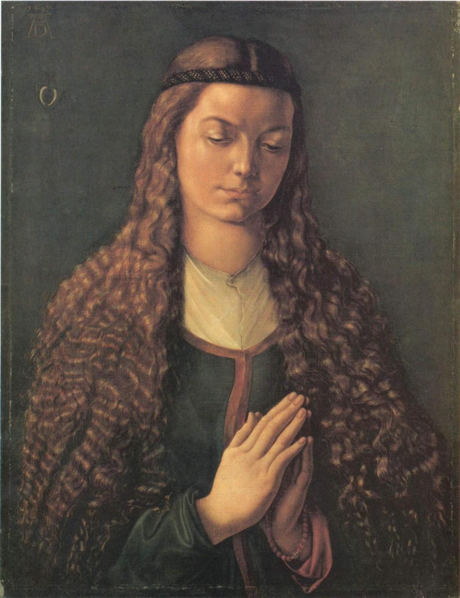 Альбрехт Дюрер. Портрет молодой Фурлан Эгер с распущенными волосами