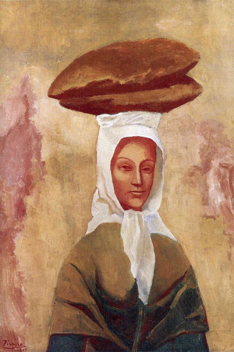 Пабло Пикассо. Женщина, несущая хлеб