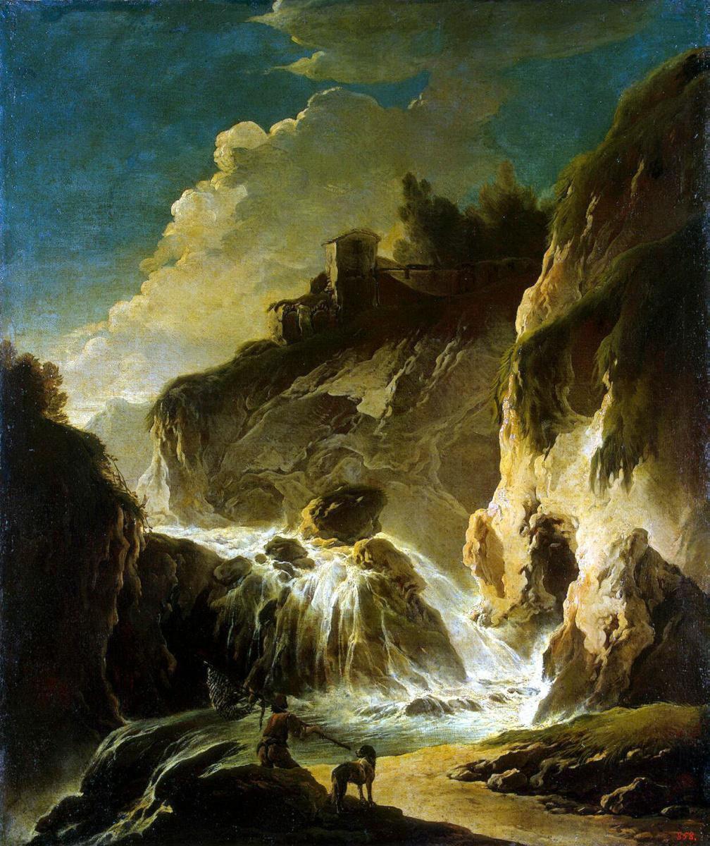 Филипп Петер Роуз. Пейзаж с водопадом