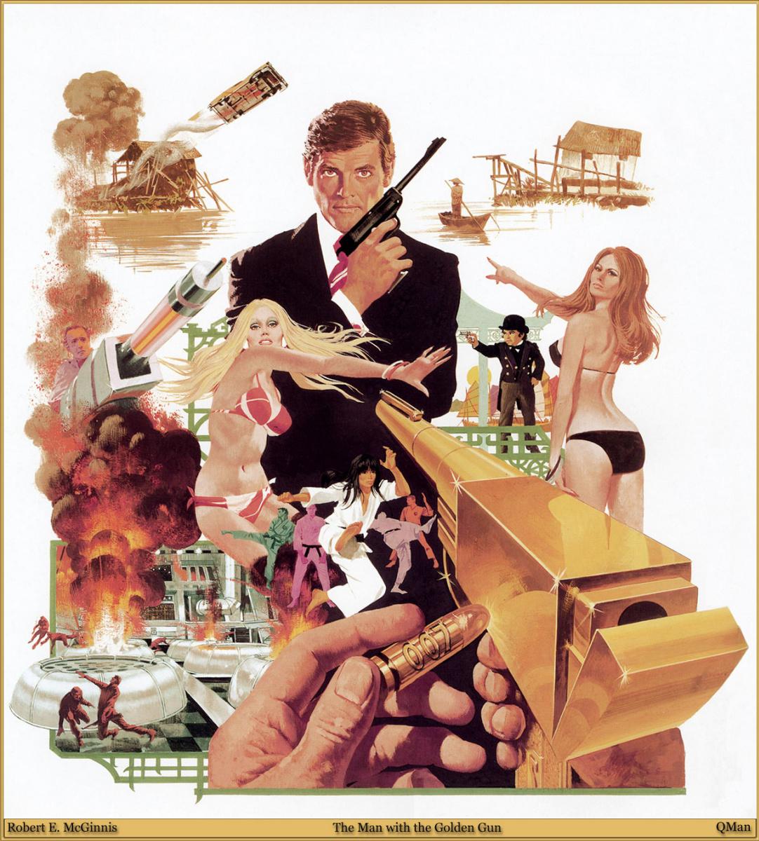 Robert McGinnis. The man with the Golden gun