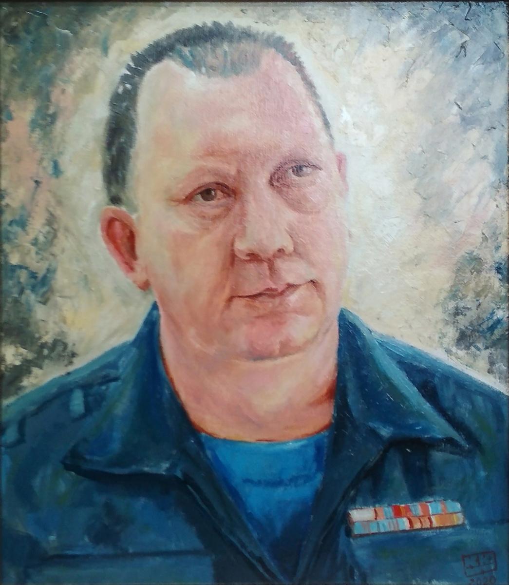 Yuri Petrovich Konnov. Firefighter-rescuer Raf Aitov.