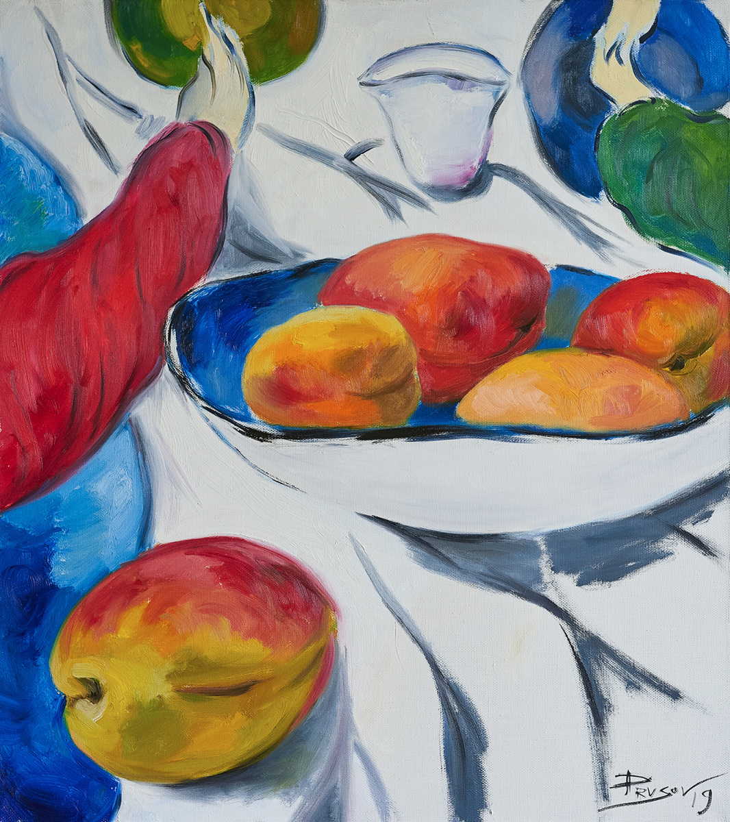 Konstantin Prusov. Ripe peaches