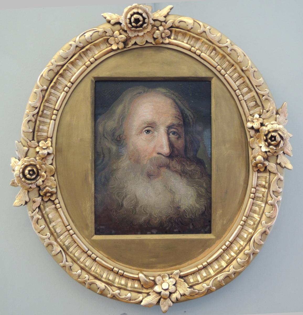 Mikhail Vasilyevich Lomonosov. Portrait of an old man (Factory of M.V. Lomonosov, craftsman Matvey Vasiliev)