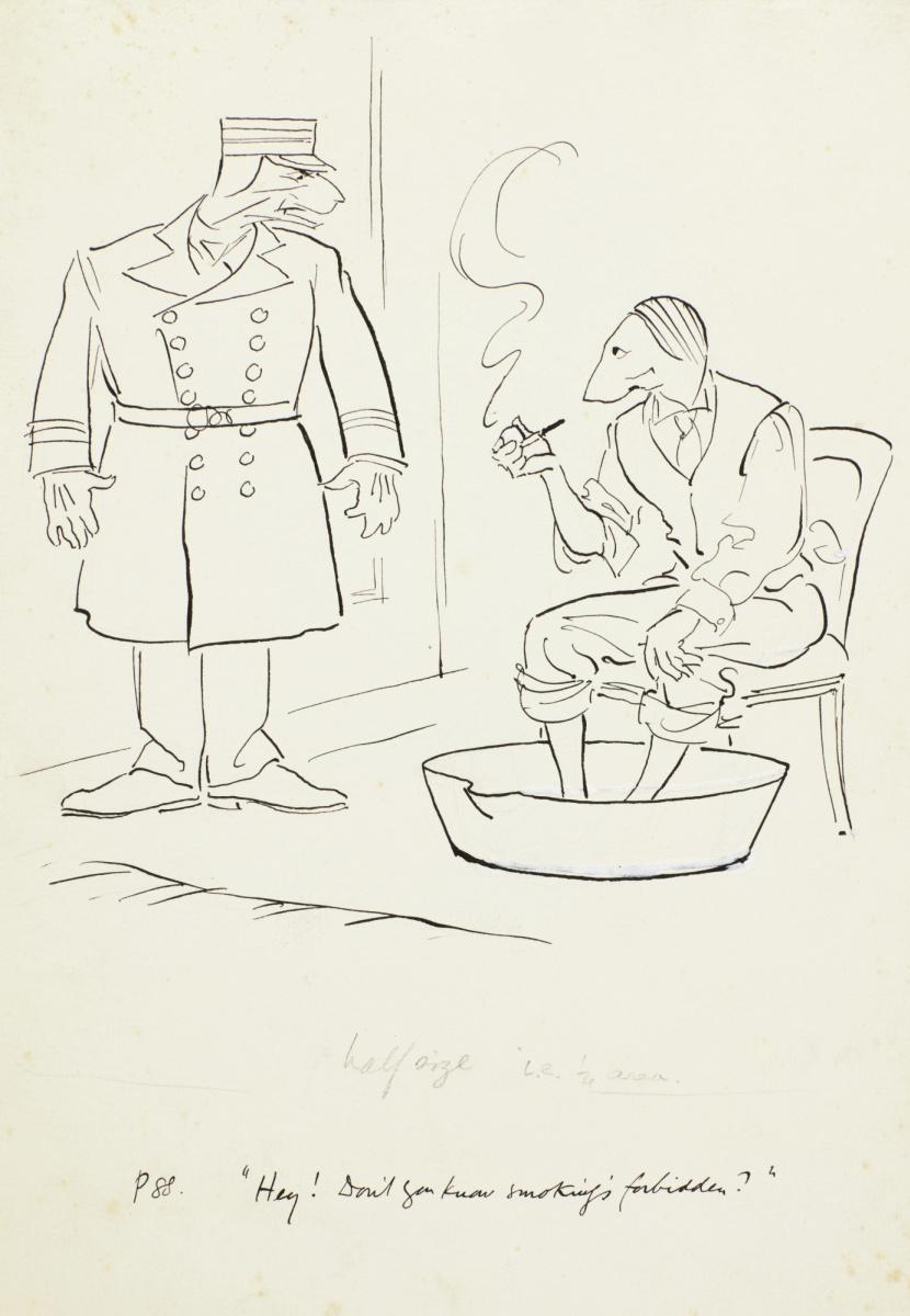 Артур Рэкхэм. Карикатура I