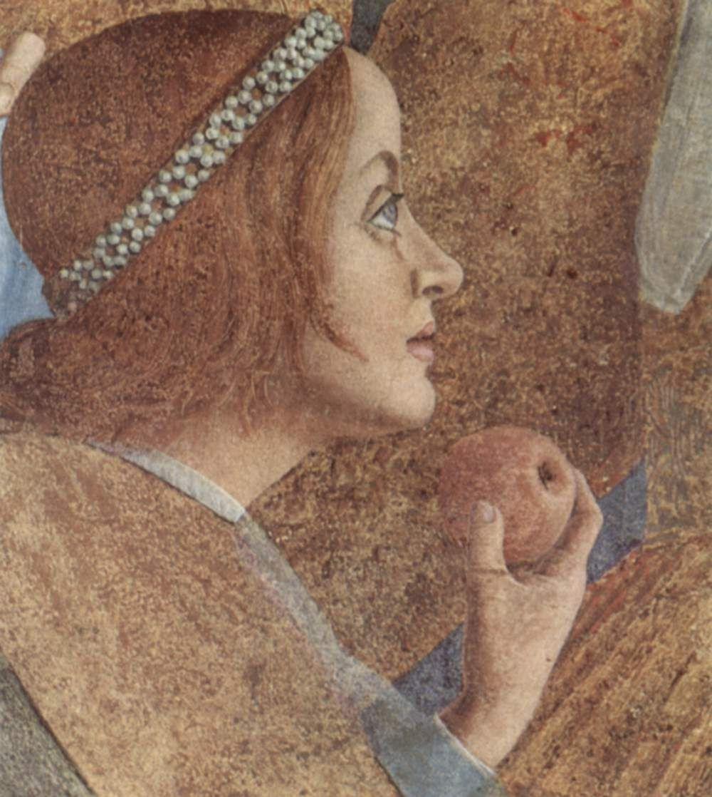 Андреа Мантенья. Двор Гонзага, фрагмент: Паола Гонзага. Камера дельи Спози