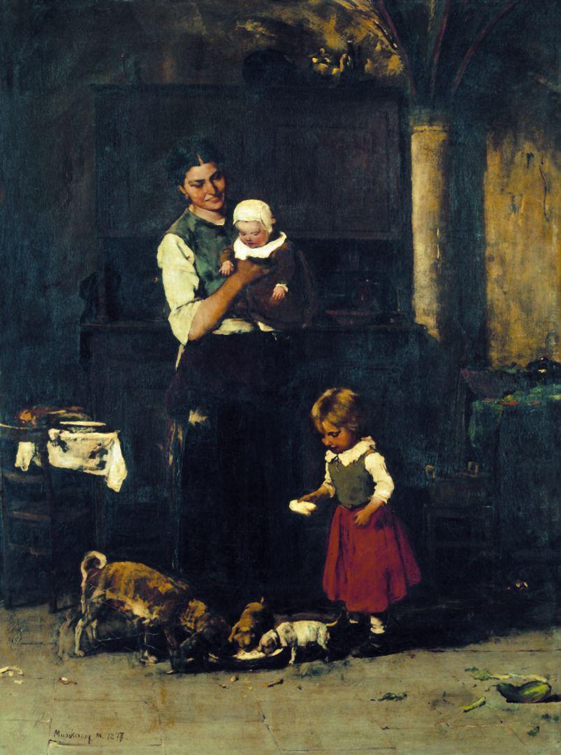 Михай Либ Мункачи. Две семьи на кухне