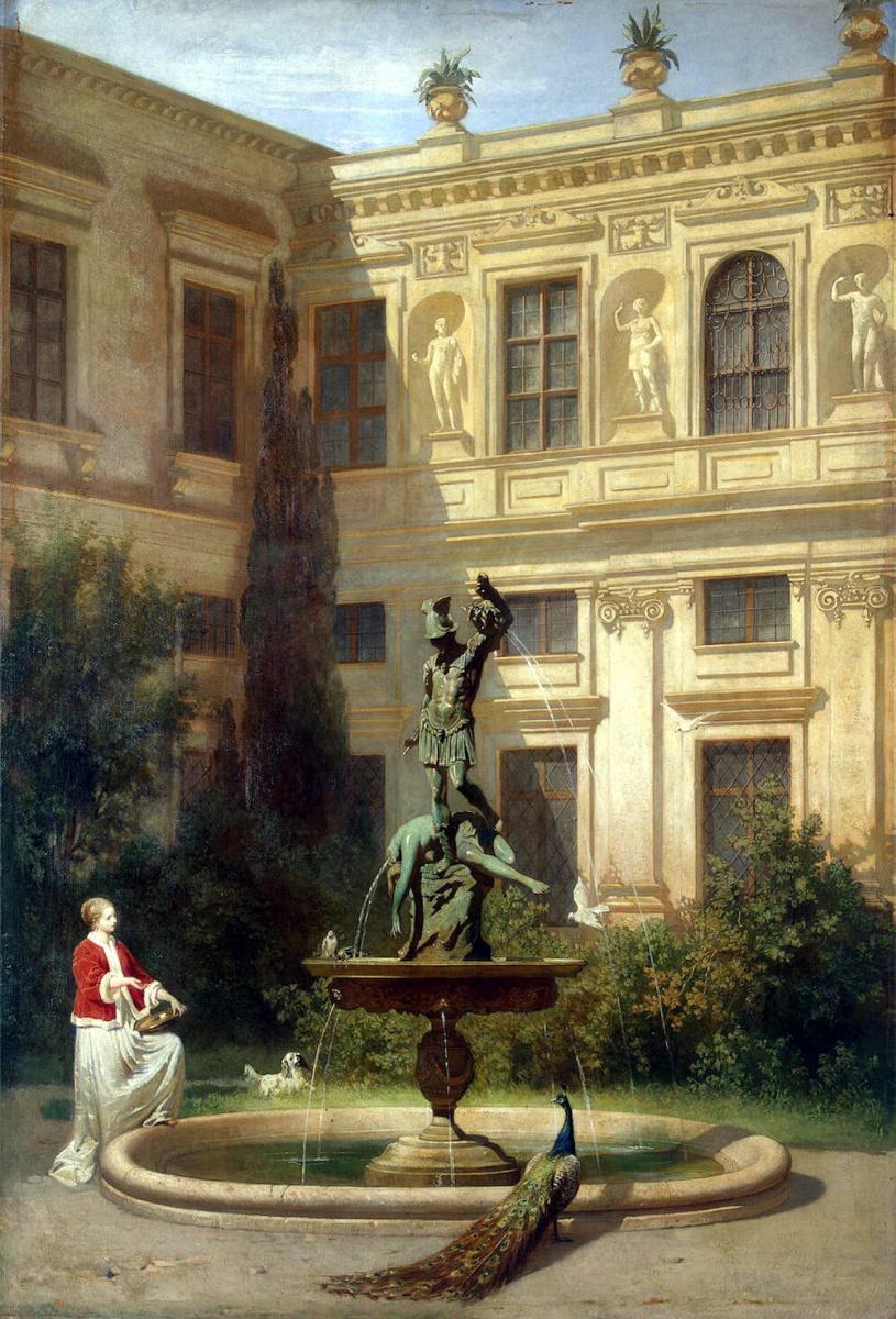 Ганс фон Маре. Двор с гротом в мюнхенской королевской резиденции