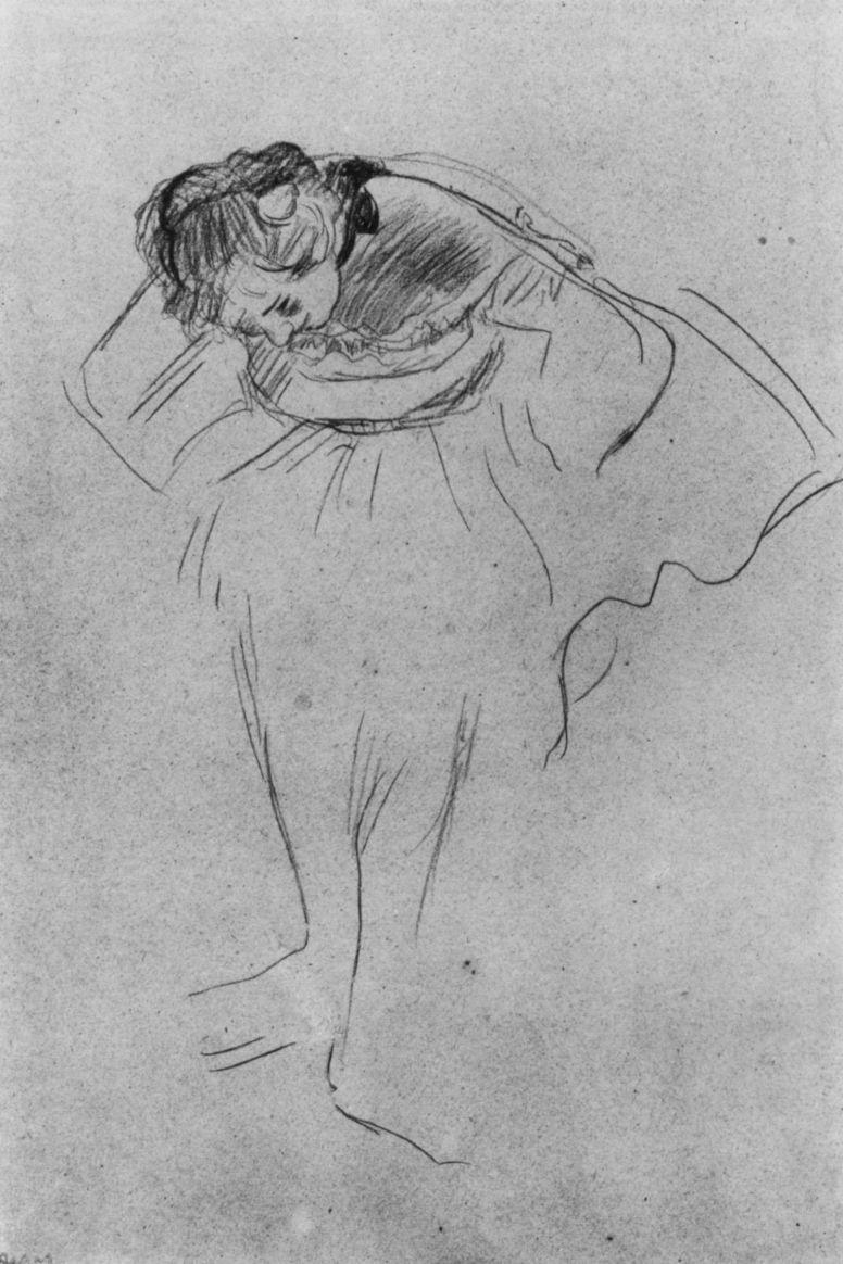 Эдгар Дега. Балерина с согнутыми в локтях руками, наклонившаяся вперед