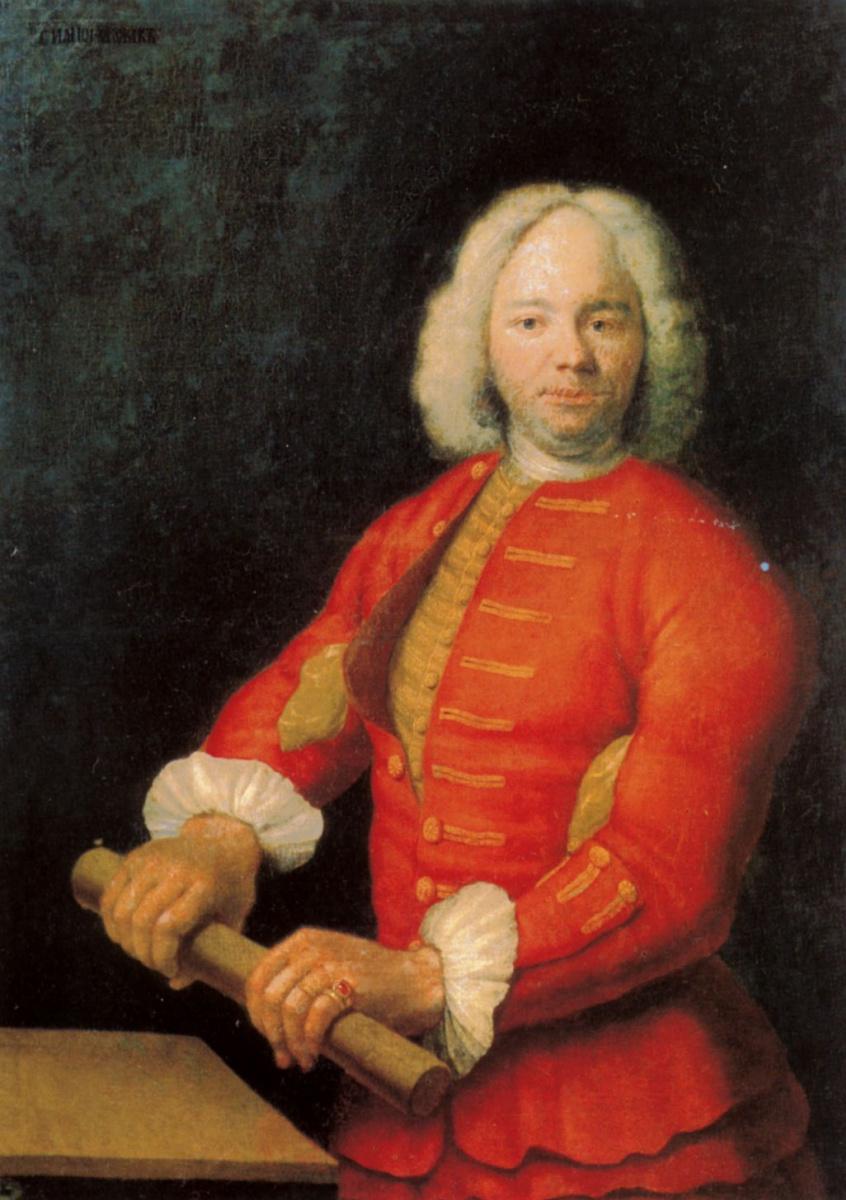 Георг Гзелль. Портрет великана Николая Буржуа