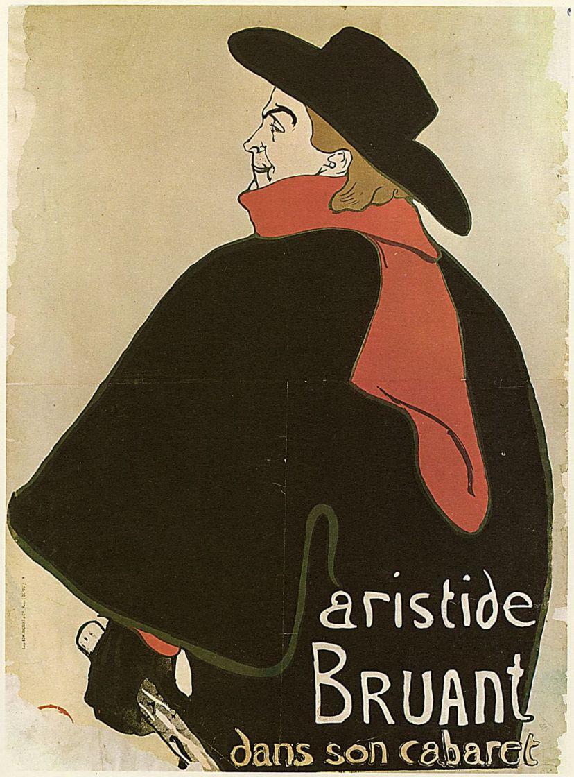 """Анри де Тулуз-Лотрек. Плакат """"Брюан в своём кабаре"""""""
