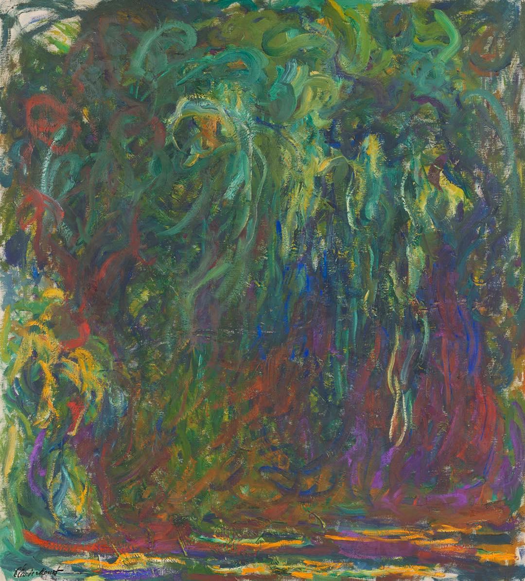 Claude Monet. Weeping Willow