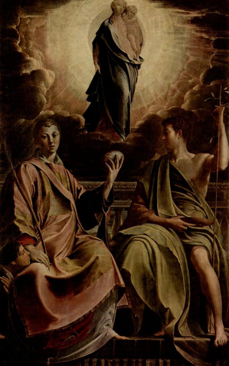 Франческо Пармиджанино. Мадонна со св. Стефаном и Иоанном Крестителем