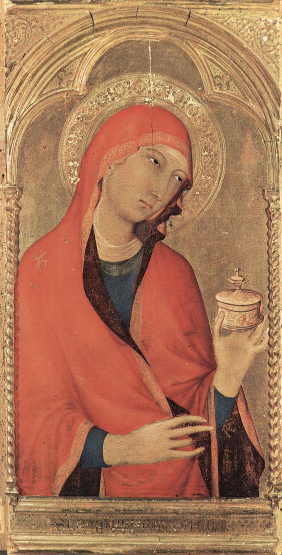 Симоне Мартини. Алтарь, Пиза, третья центральная часть слева: св. Мария Магдалина