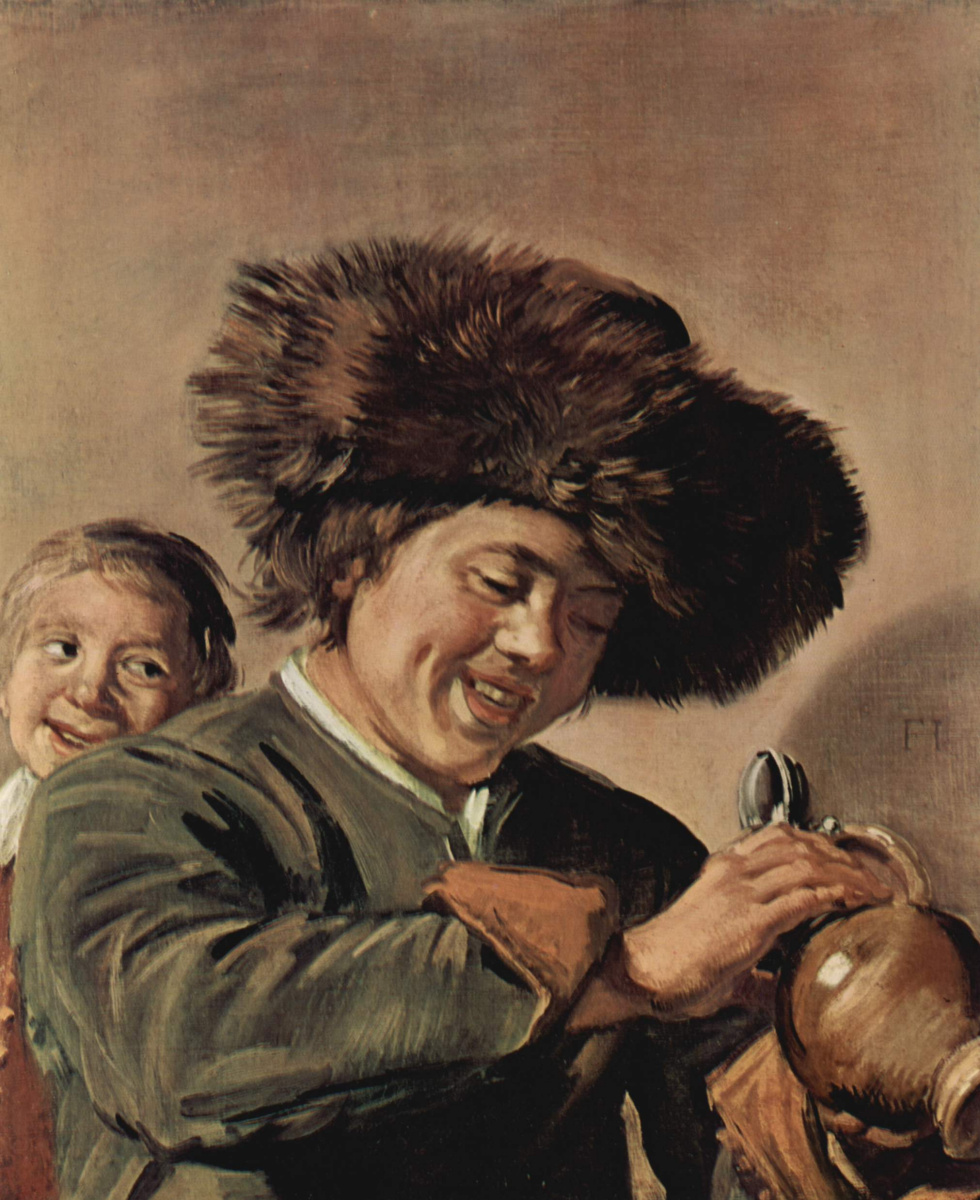 Frans Hals. Two laughing boys with a beer jug