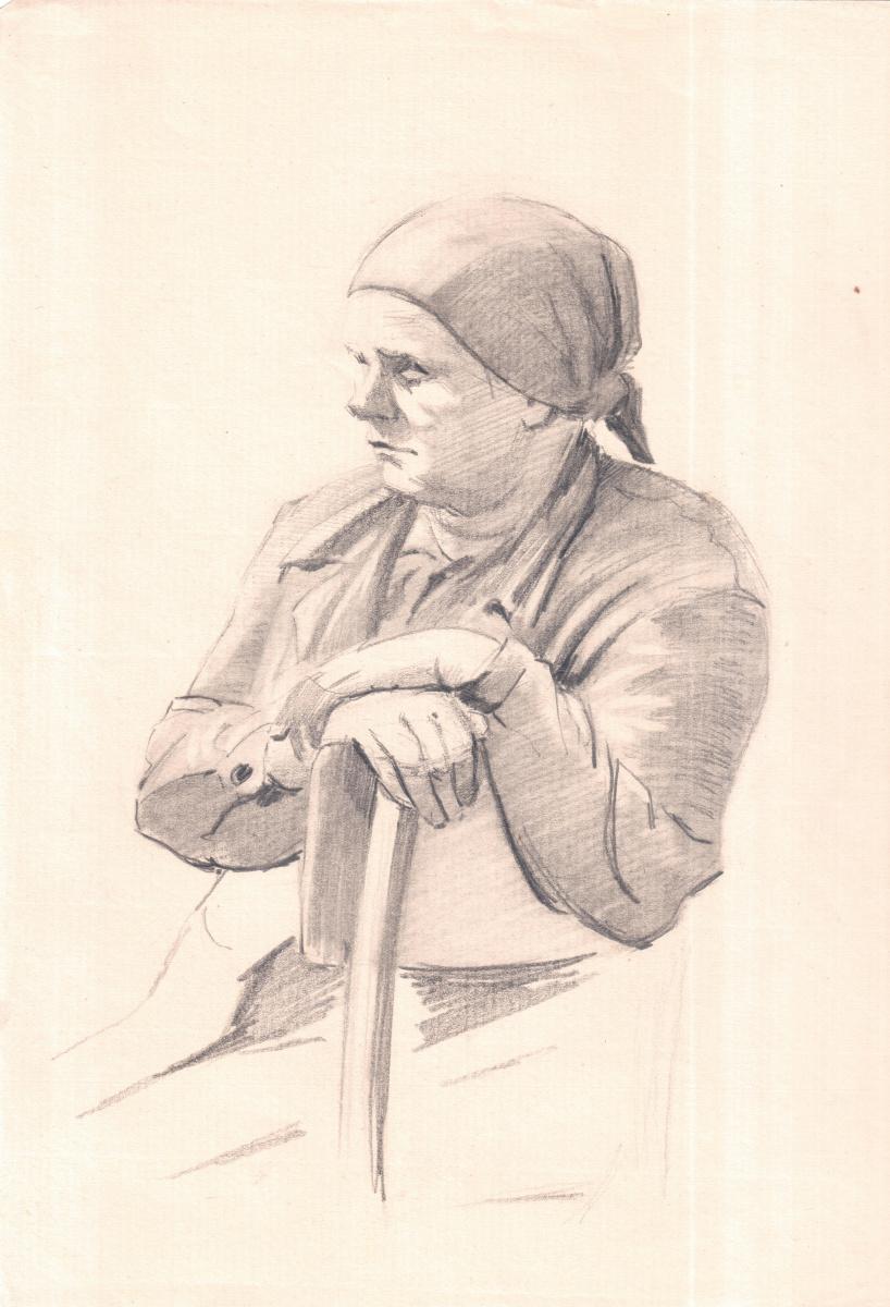 Аркадий Павлович Лаптев. Пожилая женщина