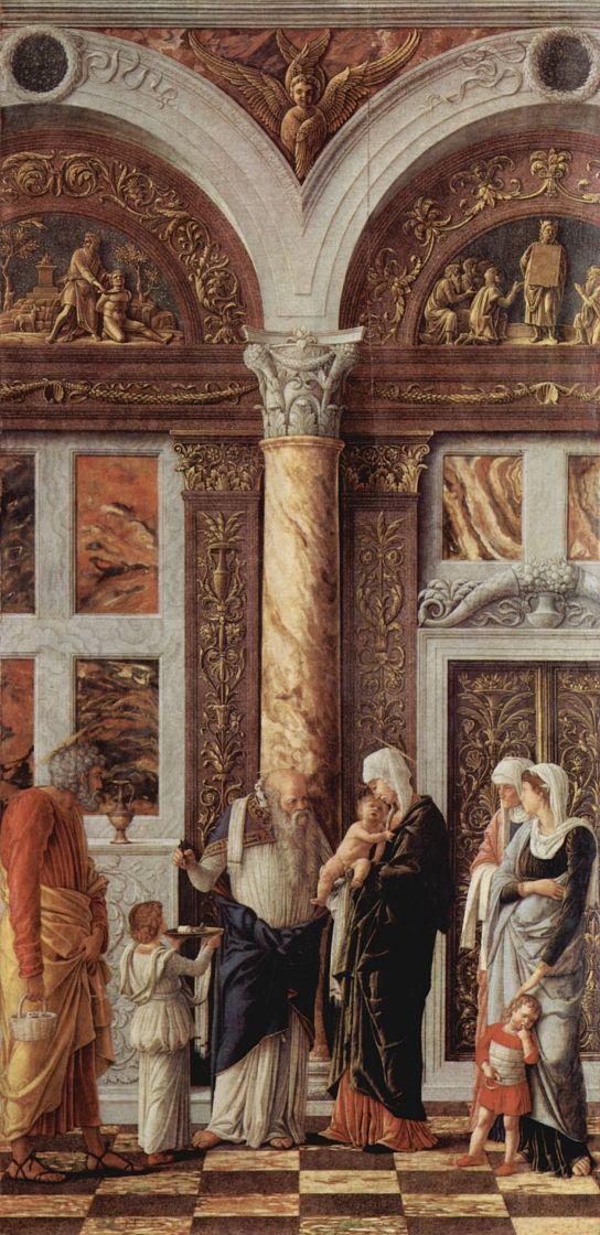 Андреа Мантенья. Алтарь дворцовой капеллы герцога Мантуанского, сцена: Обрезание Христа