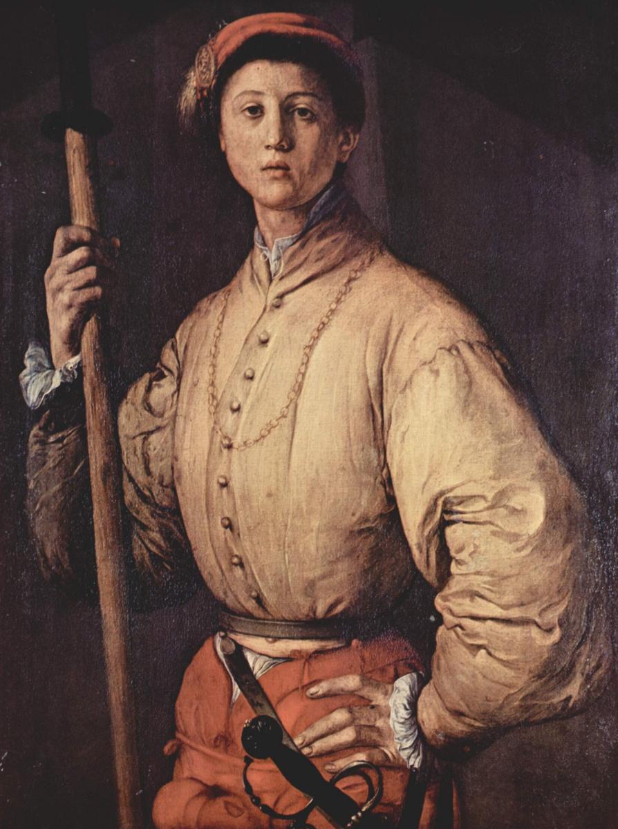 Якопо Понтормо. Портрет юноши с алебардой