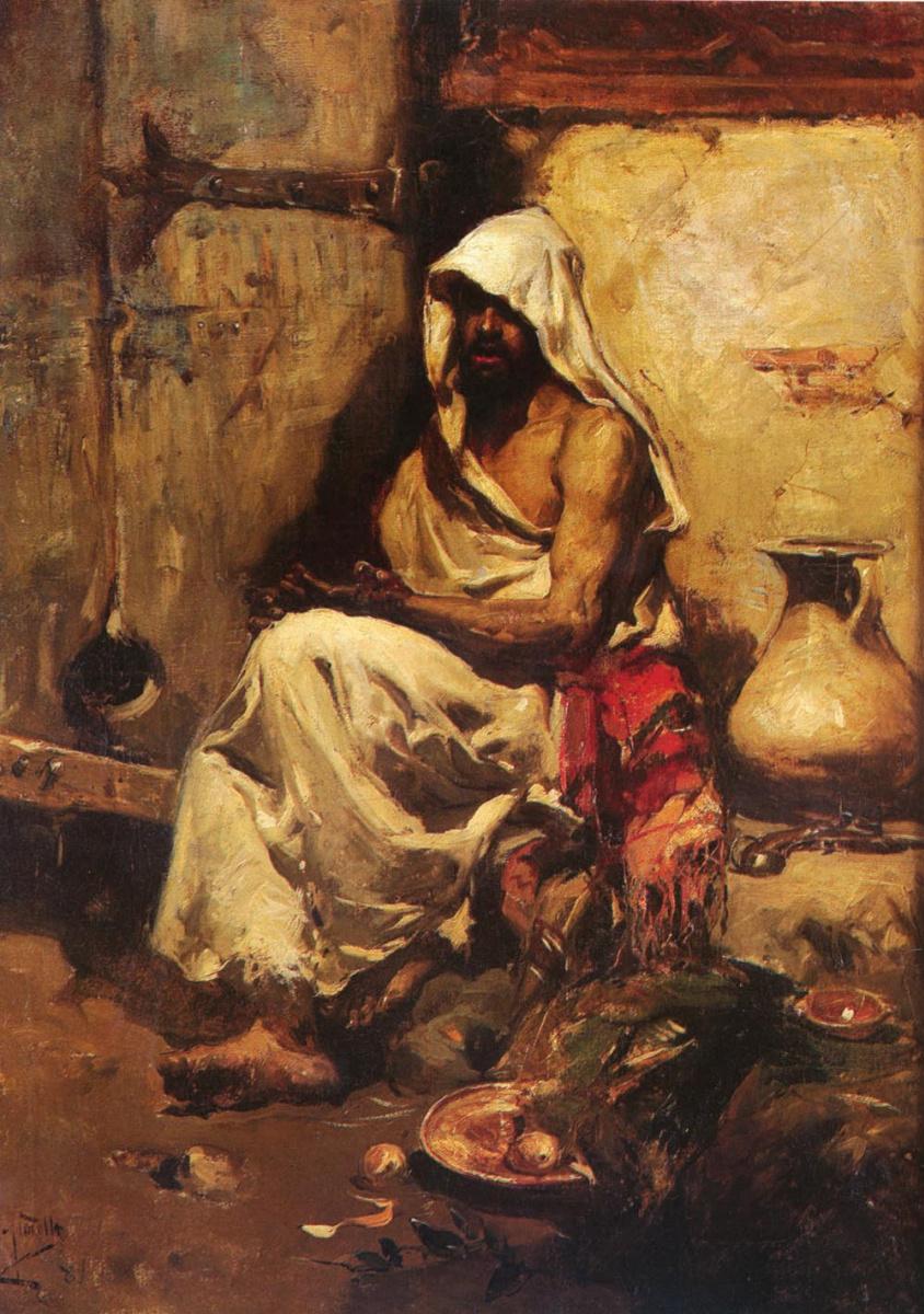 Хоакин Соролья (Соройя). Араб изучает пистолет