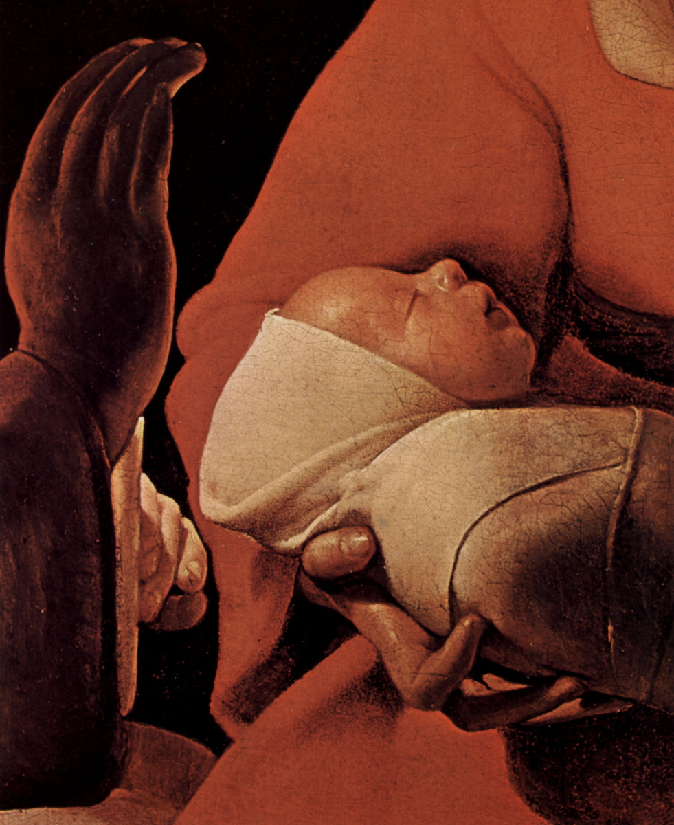 """Georges de La Tour. """"Newborn"""" (detail)"""
