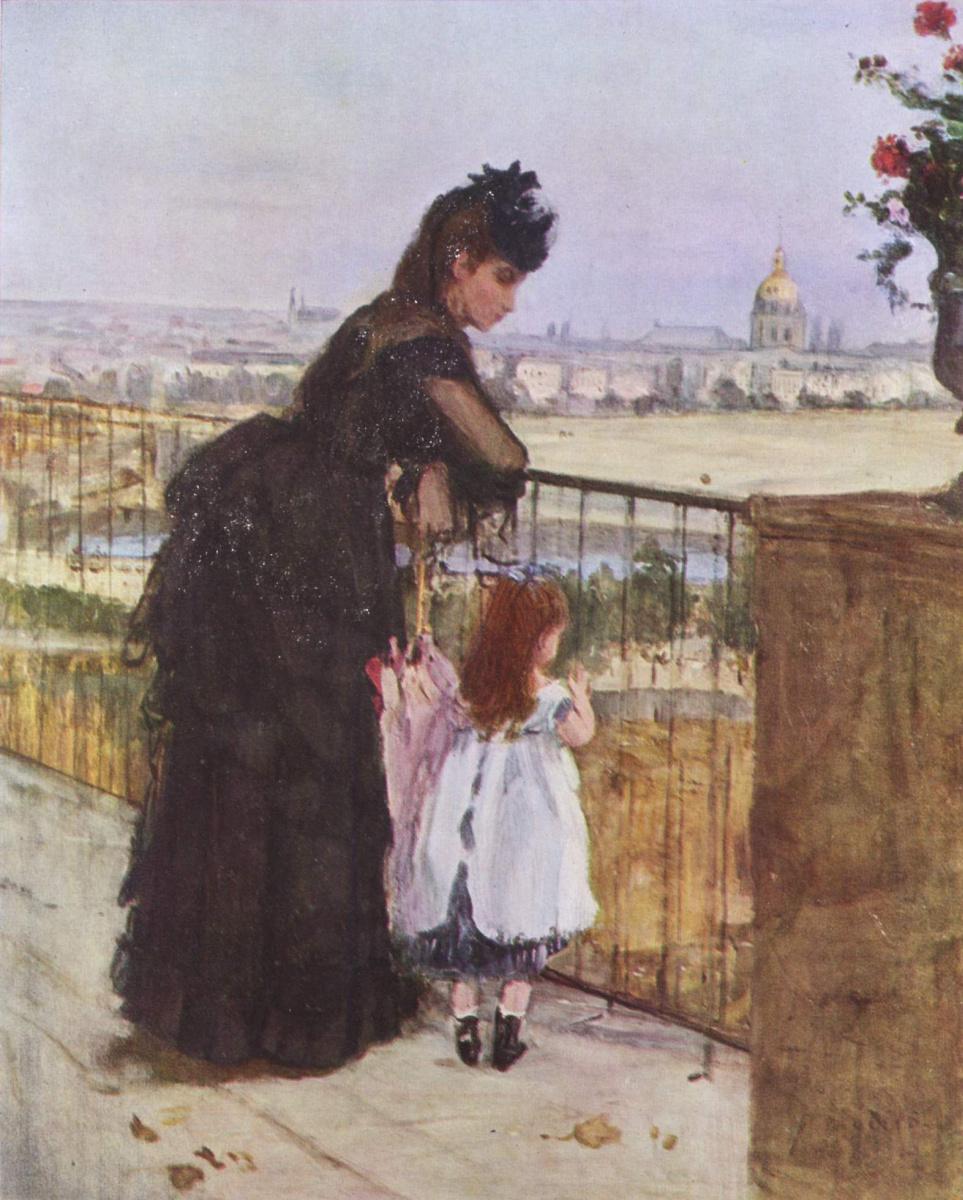 Берта Моризо. Женщина с ребенком на балконе