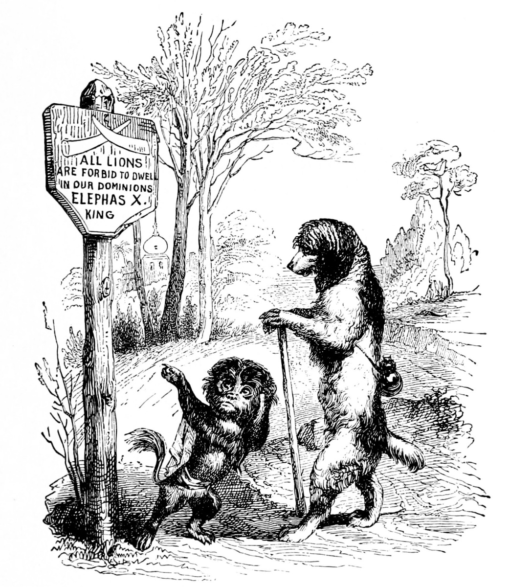 Jean Inias Isidore (Gerard) Granville. The exiled poodle. Illustrations to the fables of Florian