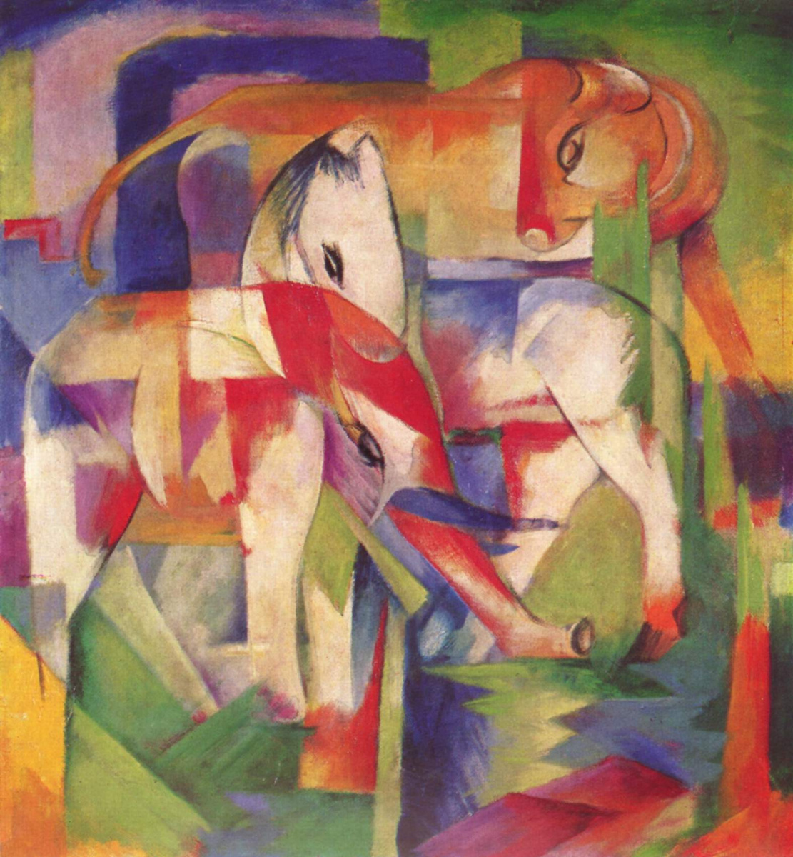 Franz Marc. The elephant, the horse, the ox. Winter