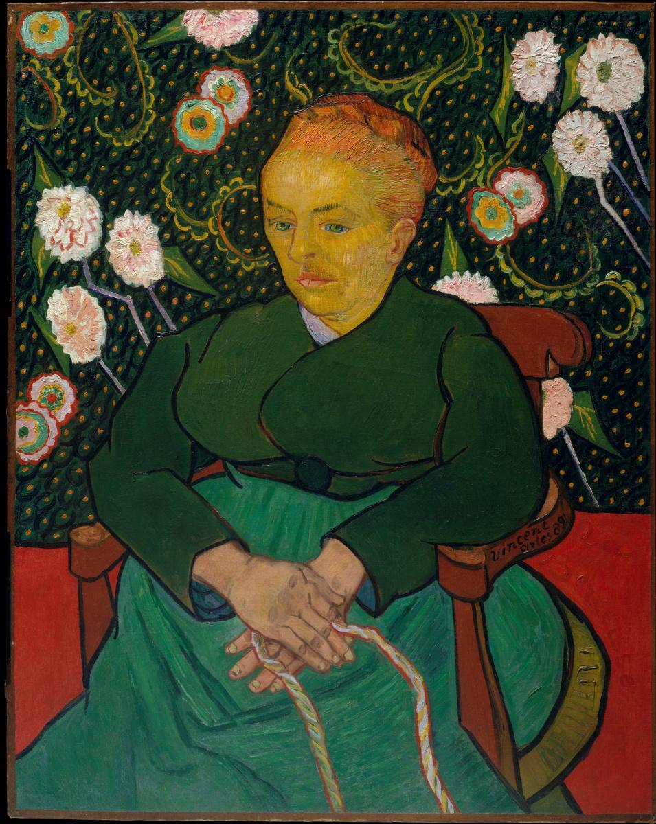 Винсент Ван Гог. Колыбельная (Женщина, качающая колыбель; портрет Августины Рулен)