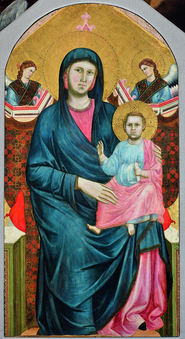 Джотто ди Бондоне. Мадонна с Младенцем и двумя ангелами