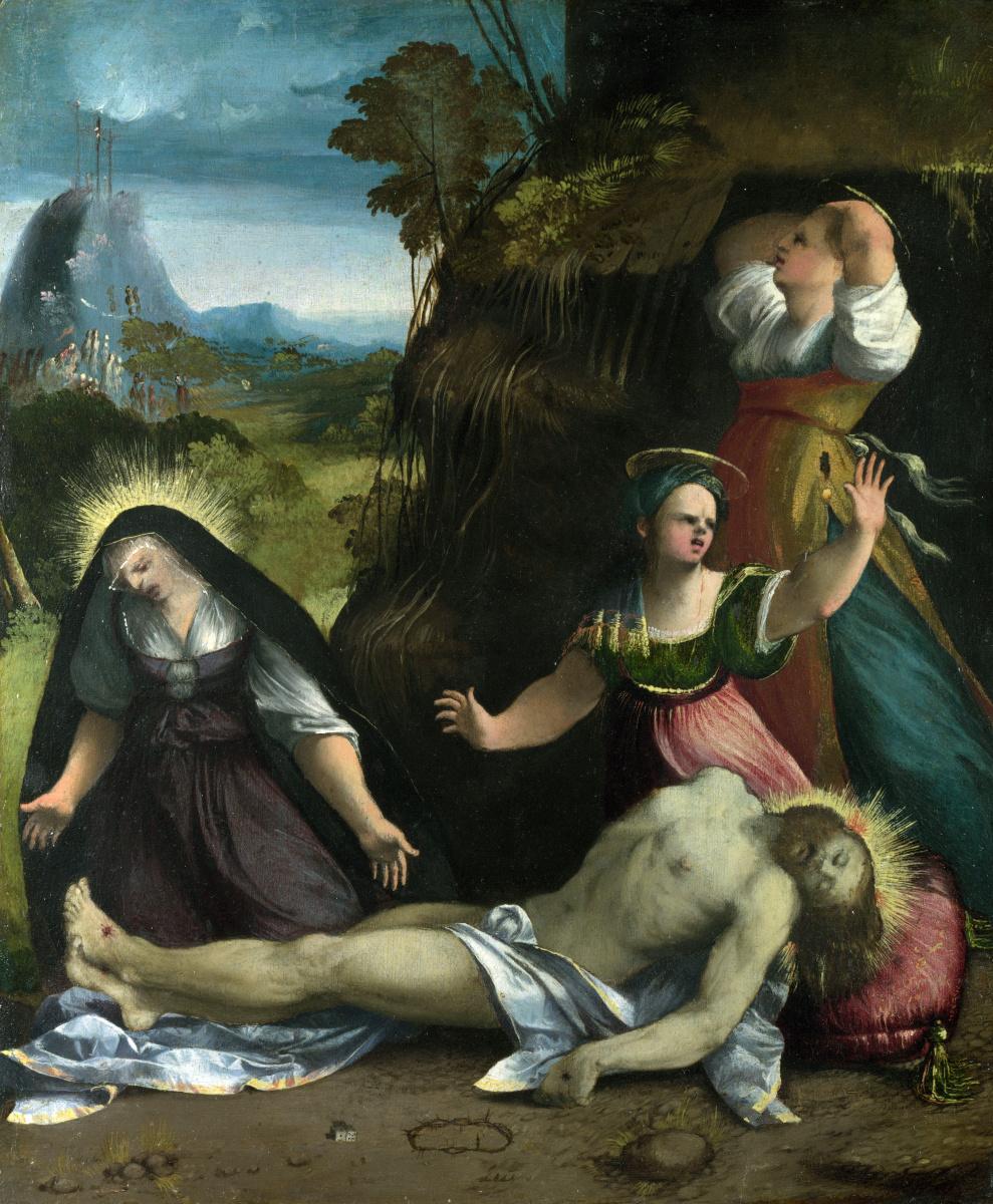 Доссо Досси. Оплакивание тела Христово