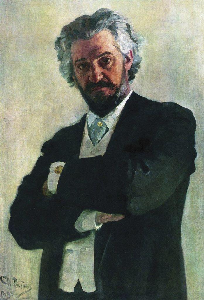 Илья Ефимович Репин. Портрет виолончелиста А. В. Вержбиловича
