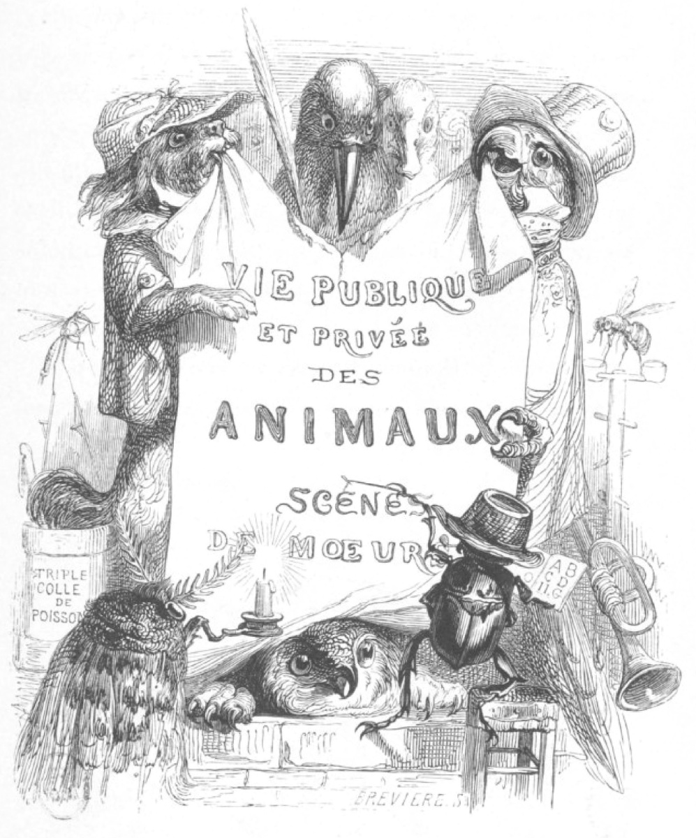 "Jean Inias Isidore (Gerard) Granville. ""Scenes of public and private life of animals."" Finale 1 of the chapter"