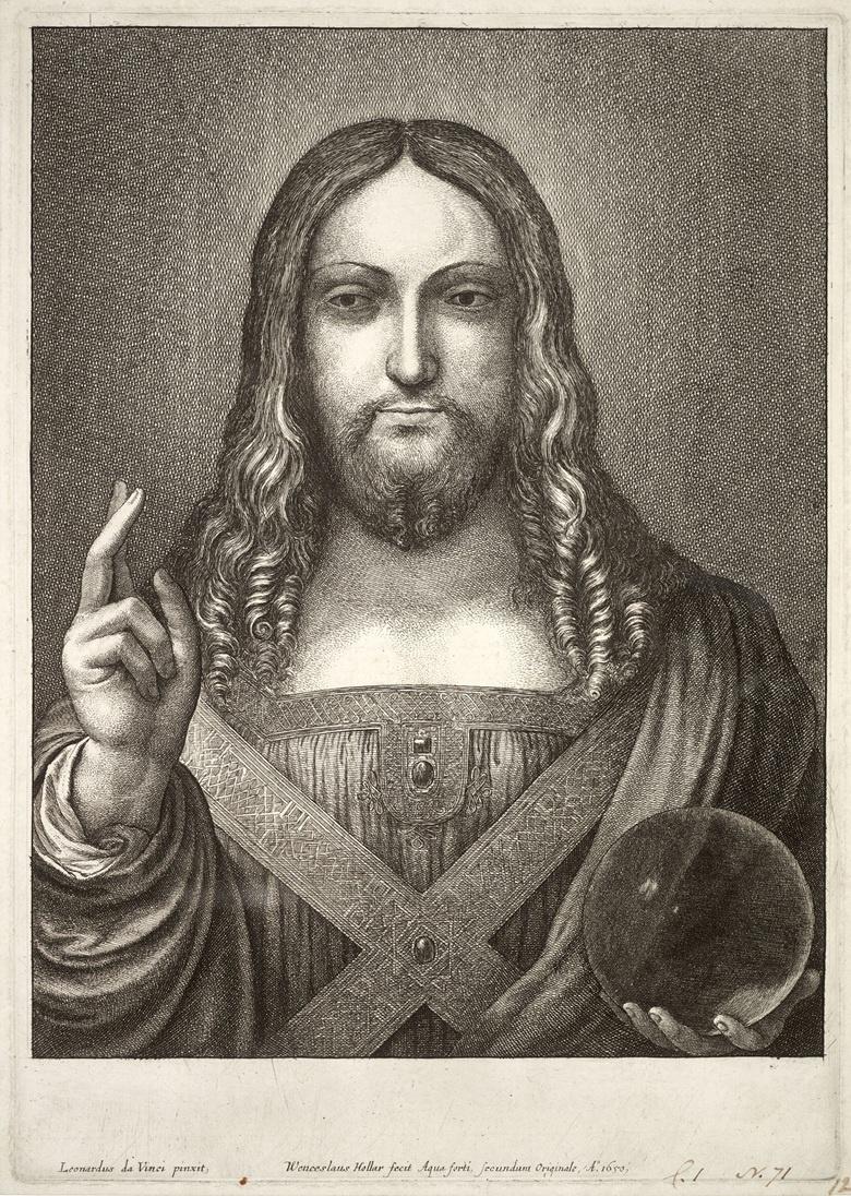 Wenzel Hollar. Jesus, after Leonardo