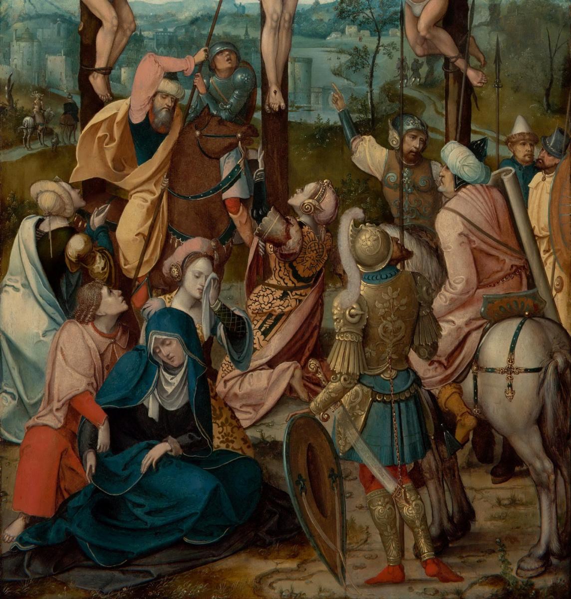 Unknown artist. Dutch school. Around 1530 Crucifixion. detail