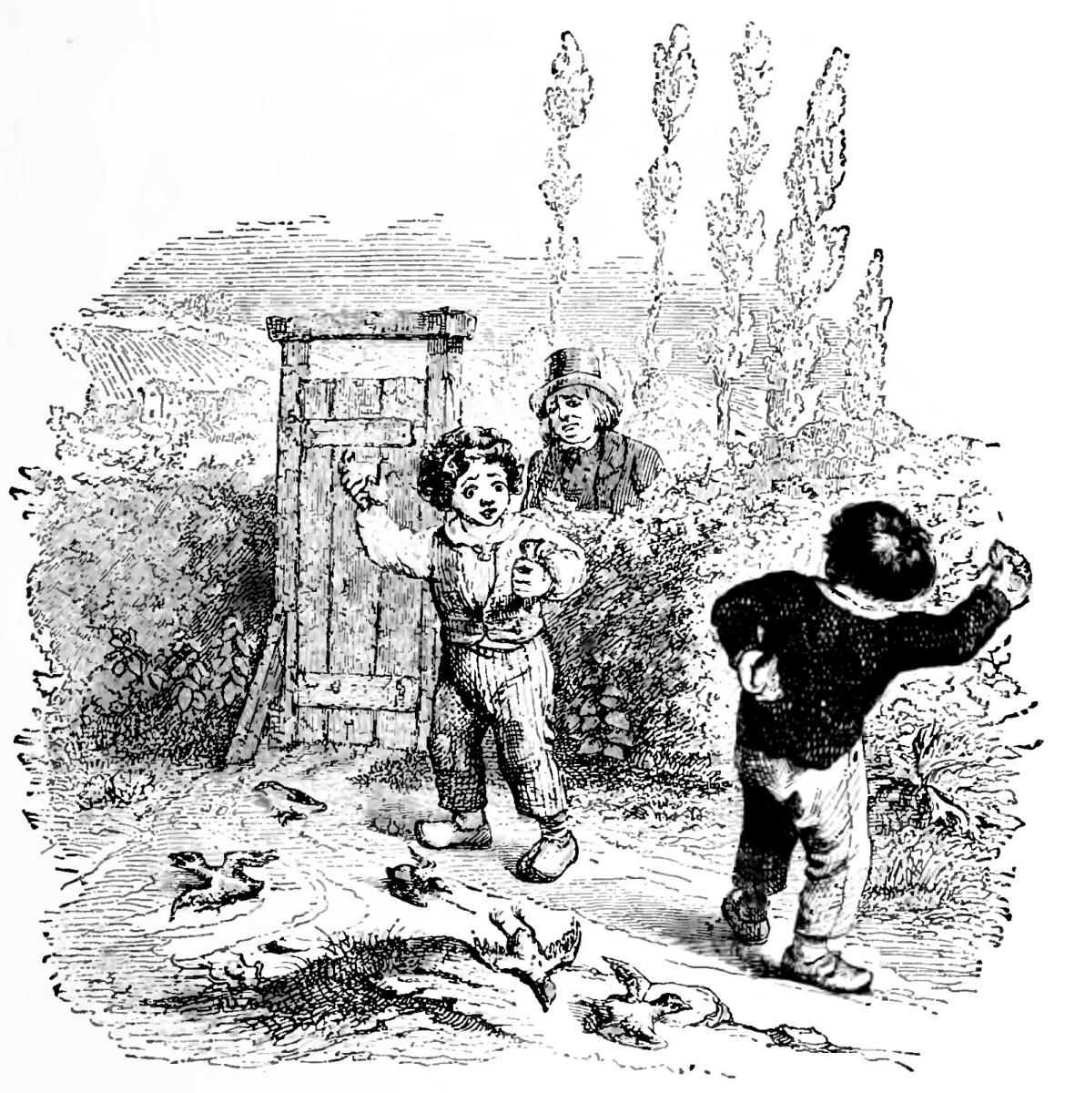 Жан Иньяс Изидор (Жерар) Гранвиль. Война мальчишек. Иллюстрации к басням Флориана