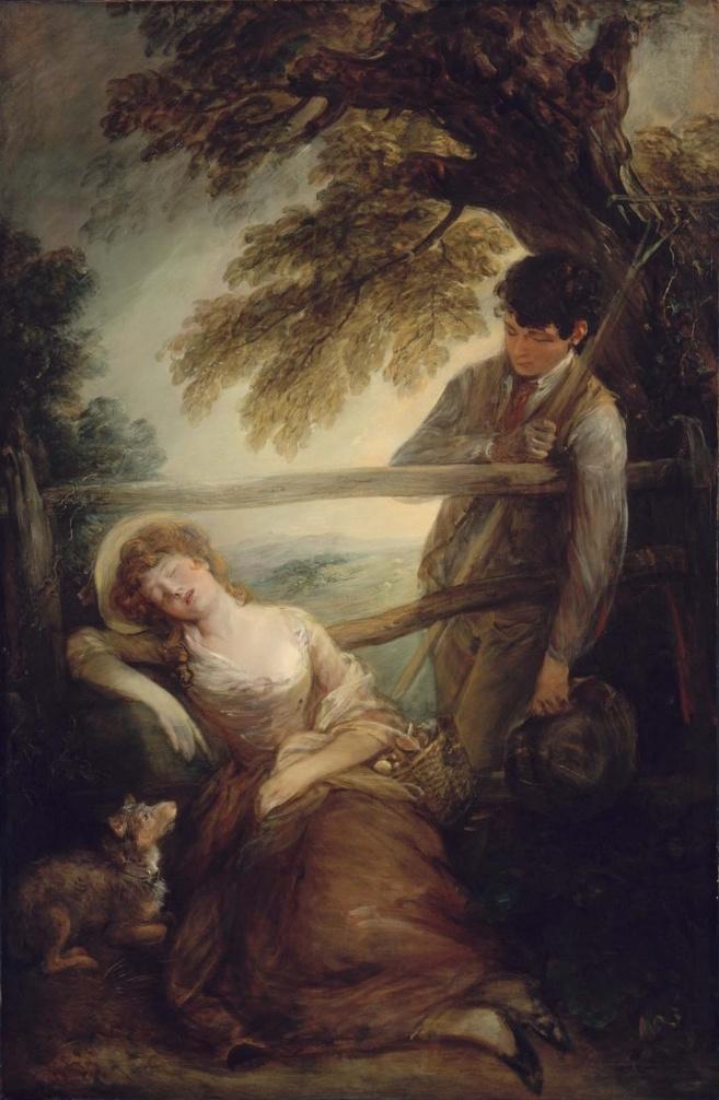Thomas Gainsborough. Cleaner hay and sleeping girl