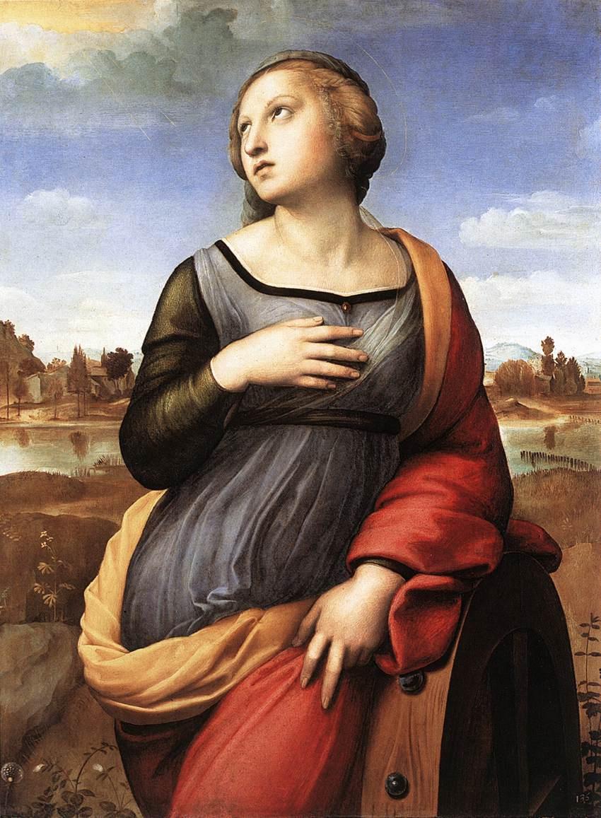 Raphael Sanzio. Saint Catherine Of Alexandria