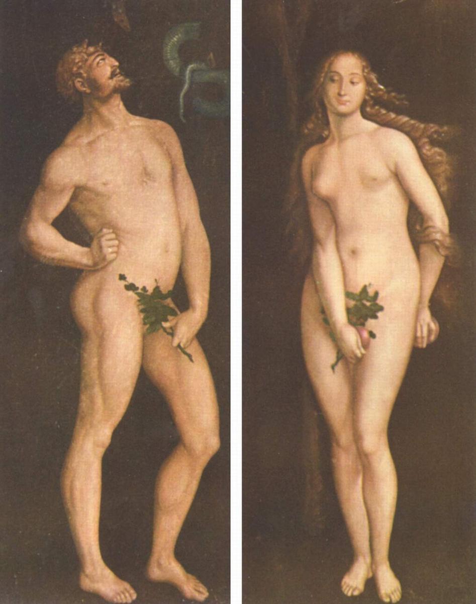 Ханс Бальдунг. Адам и Ева